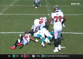 Dolphins surround Brady on drive-stopping sack