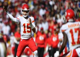 Mahomes' launch codes perfectly pinpoint Hardman for 49 yards
