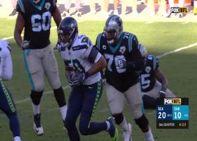 Right place, Wright time! K.J. nabs INT after Poona Ford's deflection