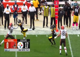 Cam Sutton gets MAJOR air for Steelers' second INT