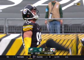 T.J. Watt tracks down Carson Wentz for sack