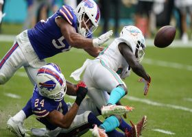 Matt Milano comes away with Jakeem Grant's red-zone fumble for takeaway