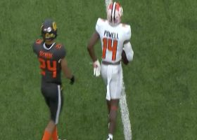 Cornell Powell twists for incredible toe-tap grab on the sideline