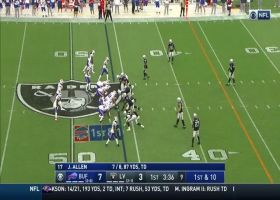 Johnathan Abram sniffs out Bills' reverse for diving tackle for loss