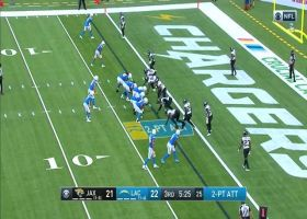 Jags sniff out Herbert's QB run for TFL on two-point try