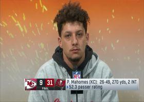 Patrick Mahomes reacts to loss vs. Bucs in Super Bowl LV