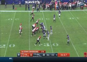 Burrow's tipped third-down throw lands perfectly in Higgins' hands