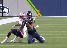 Quinton Dunbar jumps Cam's throw for first Seahawks INT