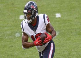 Randall Cobb launches into the end zone for his first Texans TD