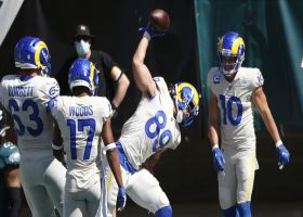 Higbee takes Goff's 12th-consecutive completion in for duo's second TD