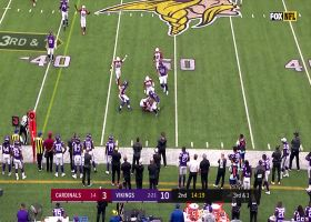 Watch Tre Boston lay out to pick off Cousins   True View