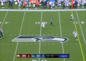 Lynch floats pass to Jazz Ferguson for 22 yards