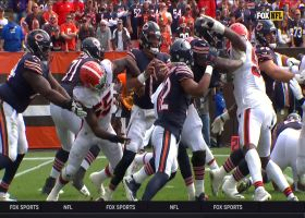Browns notch fifth sack of game on Justin Fields