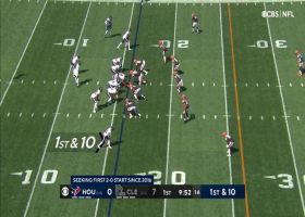 Tyrod Taylor rips dart to Nico Collins for 32-yard catch and run
