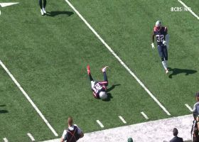 Adrian Phillips lays out to pick off Zach Wilson's deflected pass