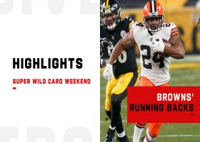 Best plays by Nick Chubb, Kareem Hunt vs. Steelers | Super Wild Card Weekend