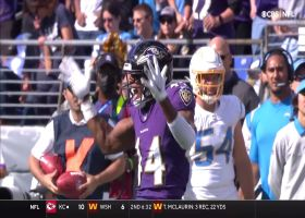Marlon Humphrey blankets Mike Williams to force turnover on downs
