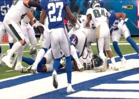 Miles Sanders dives into end zone for successful two-point conversion