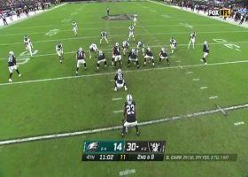 Derek Carr rainbows 29-yard pass to Alec Ingold