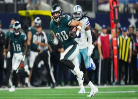 Goedert rumbles through Dallas' secondary for 38-yard catch and run