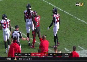 Ronald Jones powers through for  33-yard run