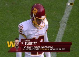 Tedarrell Slaton blocks Chris Blewitt's first field goal attempt with Washington