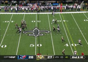 Brees finds Ginn to get in FG range