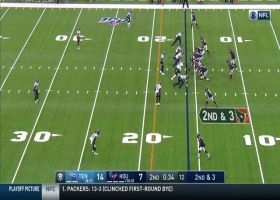 A.J. McCarron avoids sack with underhand toss for 13-yard pickup