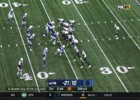 Will Dissly delivers EPIC stiff-arm to Bobby Okereke