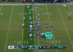 'Hawks get turnover on downs after Miles Sanders drops fourth-down throw