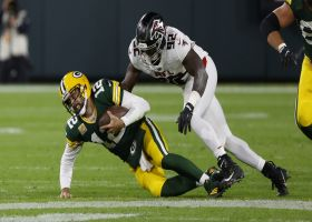 Charles Harris chases down Aaron Rodgers for massive loss on sack