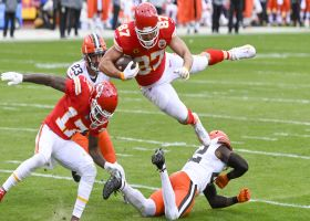 Can't-Miss Play: Kelce's filthy route loses Ward on aerial TD catch and run