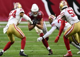 49ers converge on Dan Arnold for key takeaway at Cards' 36-yard line