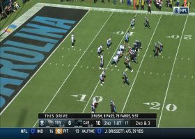 Kyle Allen shows GUTS floating perfect jump ball TD to Samuel under duress