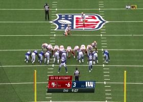 Robbie Gould misses first field goal this season on 55-yard attempt