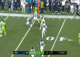 Russell Wilson makes RPO work with unconventional shovel pass to Will Dissly