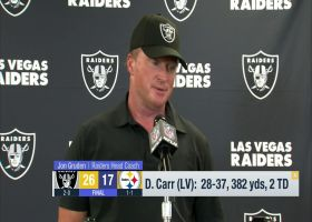Jon Gruden on Derek Carr: He's 'a big reason why we've been able to win'