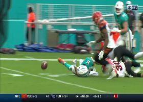 Myles Gaskin fumbles pigskin after 26-yard scamper