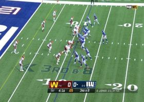 Washington's coverage in secondary gives Kerrigan time for red-zone sack