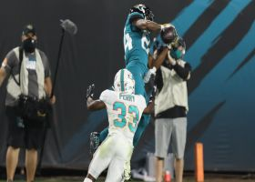 Cole makes unreal adjustment for acrobatic toe-tapping sideline grab