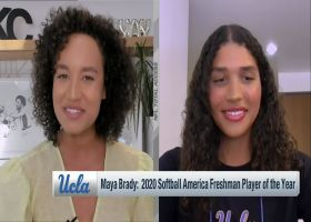 UCLA softball standout Maya Brady discusses her connection with uncle Tom