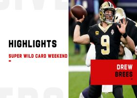 Drew Brees' best passes from 2-TD game   Super Wild Card Weekend