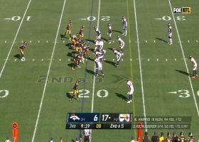 Najee Harris breaks into Broncos secondary for 18-yard run