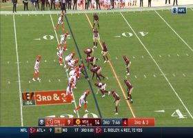 Ryan Kerrigan blows by Cincy's replacement rookie RT for easy third-down sack