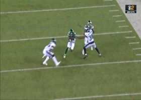Deontay Burnett lowers his shoulder for 27-yard catch and run