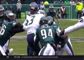 Eagles collapse pocket around Wilson for third-down sack