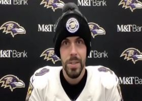 Justin Tucker reacts to game-winning kick from 55 yards