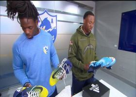 Los Angeles Chargers running back Melvin Gordon, rookie linebacker Uchenna Nwosu give sneak peak at their cleats