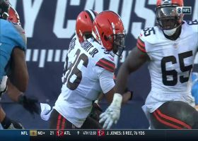 Browns corral Humphries' bobble for critical red-zone INT