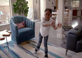 'Hard Knocks': Trevon Diggs' son Aaiden mirrors his, Stefon's warmups